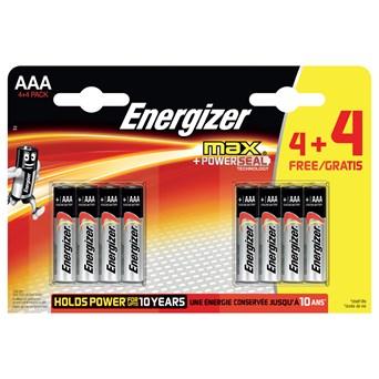 Energizer Max Aaa Batteries 4+4 (ENERLR03B4-4MAX)